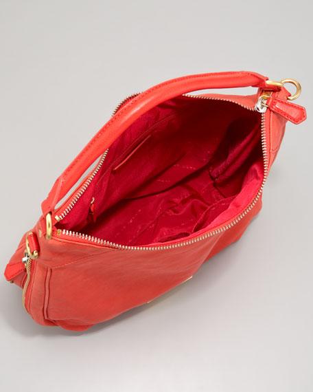 Washed Up Billy Hobo Bag, Scarlet
