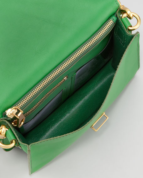 Top Chicret Flap Crossbody Bag, Green