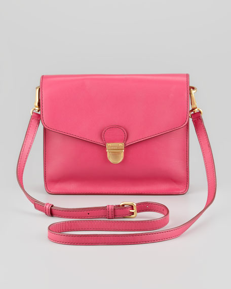 Top Chicret Flap Crossbody Bag, Fuchsia