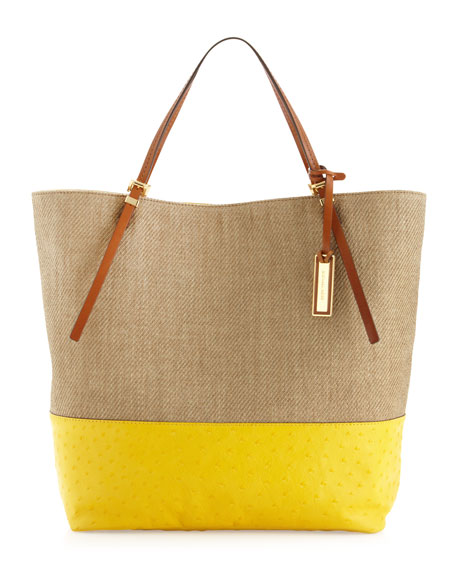Large Gia Slouchy Two-Tone Tote