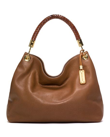 Large Skorpios Pebbled Shoulder Bag