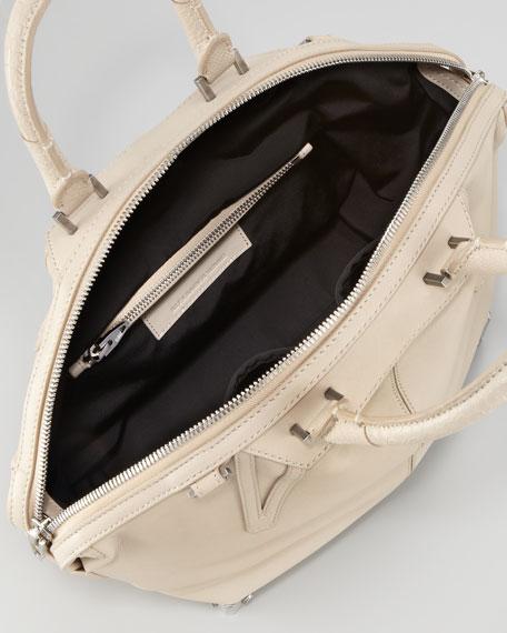 Emile Small Satchel Bag, Beige