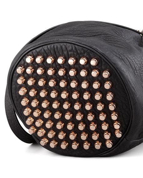 Diego Bucket Bag, Black/Rose Golden Hardware