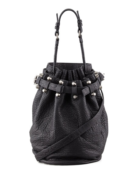 Alexander Wang Diego Bucket Bag, Black/Nickel Hardware - prada galleria bag cornflower blue / absinth