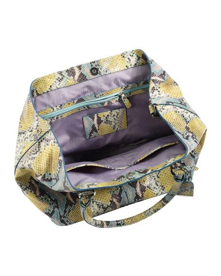 Village Convertible Snake-Print Tote Bag, Multicolor