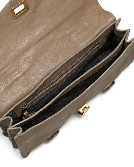 PS1 Leather Pochette, Smoke