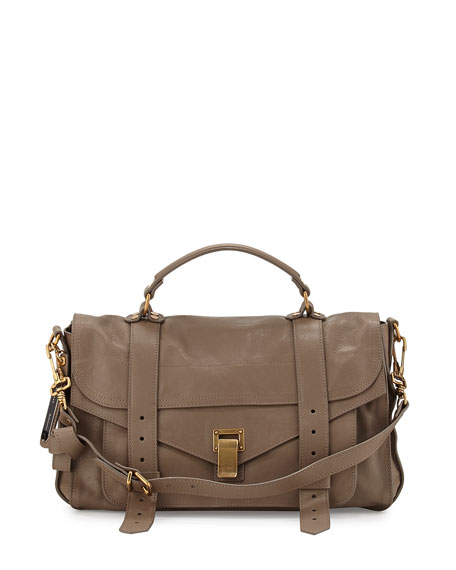 PS1 Medium Satchel Bag, Smoke