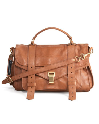 PS1 Medium Satchel Bag, Saddle