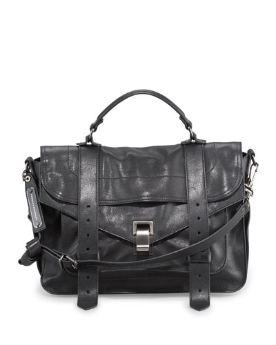 Proenza Schouler PS1 Medium Satchel Bag, Black