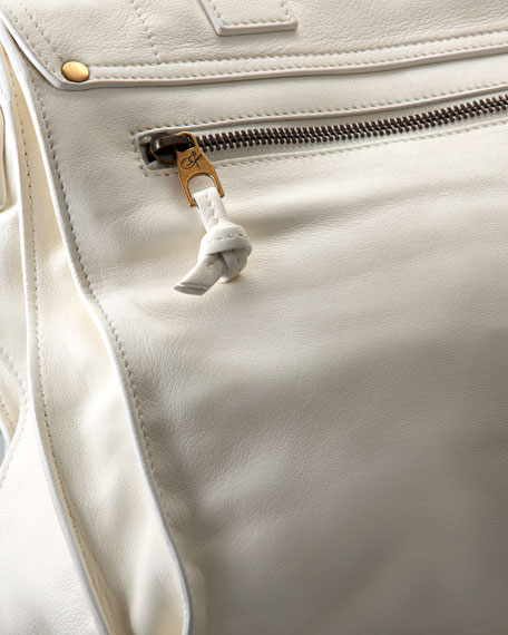 PS1 Large Satchel Bag, White