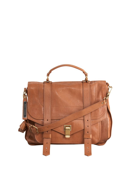 PS1 Large Satchel Bag, Saddle