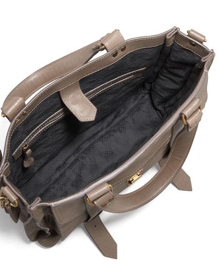 PS1 Leather Tote Bag, Smoke