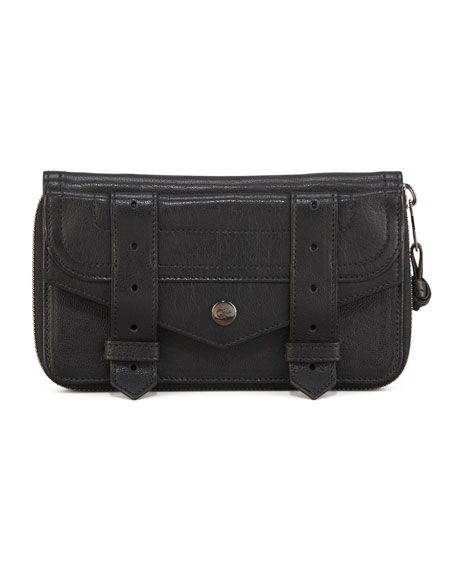 PS1 Large Zip Wallet, Black