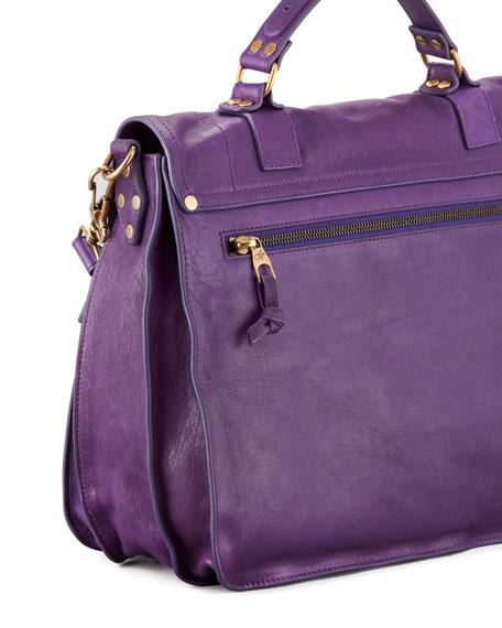 PS1 Large Satchel Bag, Plum