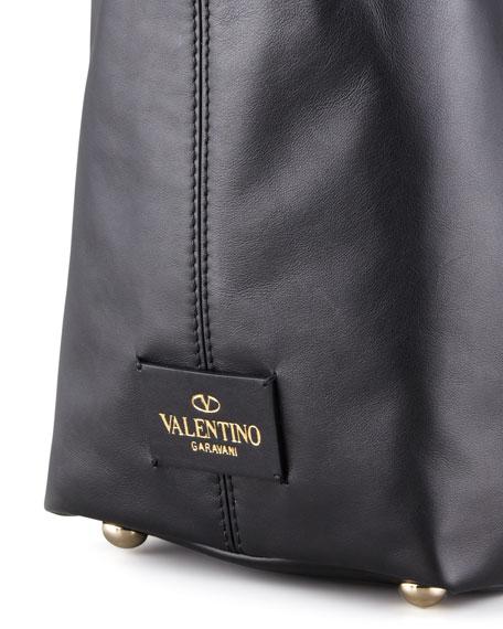 VaVa-Voom Calfskin Tote Bag, Black