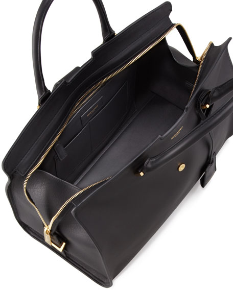 Y Ligne Soft Leather Bag, Black