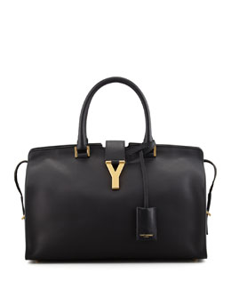 Saint Laurent Y Ligne Soft Leather Bag, Black
