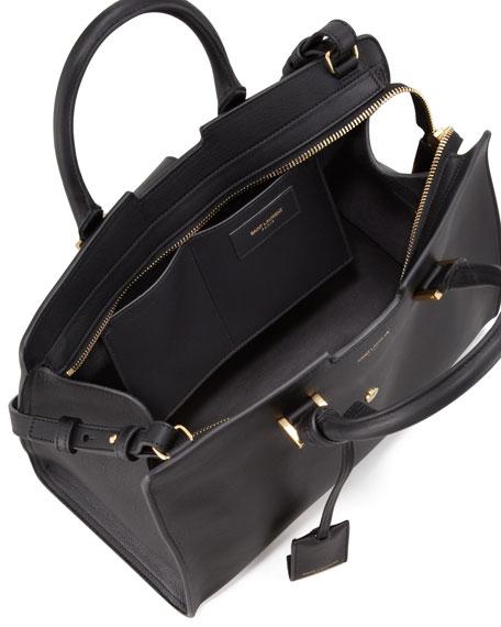 Y Ligne Cuir Gras Mini Bag, Black