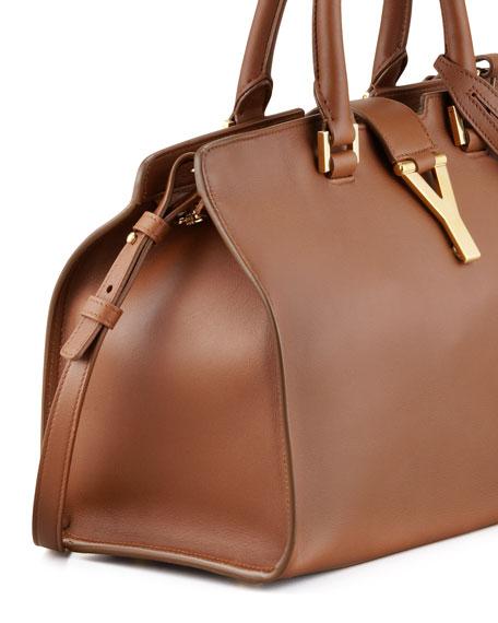Y Ligne Cuir Gras Mini Bag, Brown