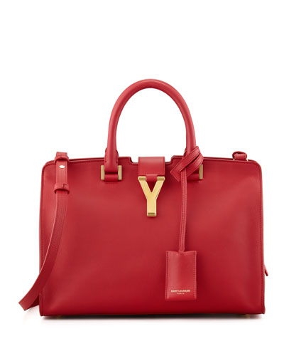 Saint Laurent Y Ligne Cuir Gras Mini Bag, Red