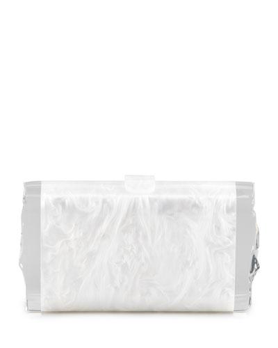Edie Parker Lara Acrylic Ice Clutch Bag, White