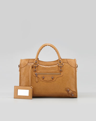 Balenciaga Giant 12 Rose Golden City Bag, Latte