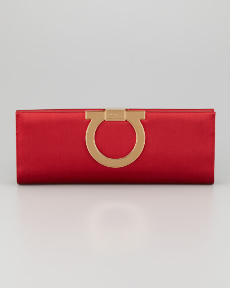 Musa Gancini Clutch Bag, Red