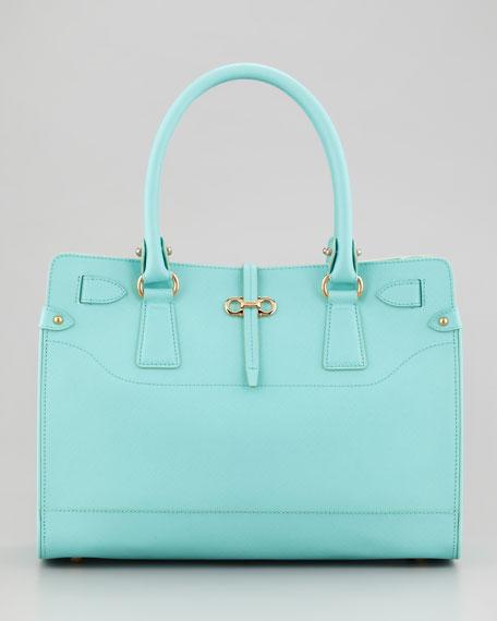 22fd1aa91f64 Salvatore Ferragamo Briana Small Leather Tote Bag