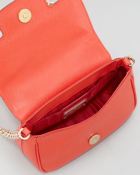 Fancy Chain Shoulder Bag, Coral