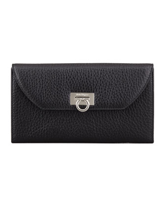 Mediterraneo Continental Wallet, Black