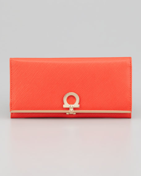 Gancini Icona Continental Wallet, Lava