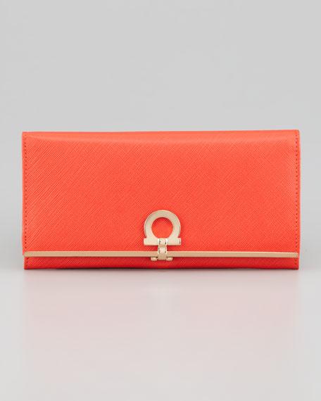 Gancini Icona Continental Wallet, Lava