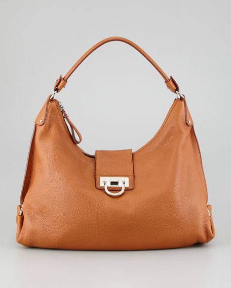 Fanisa Gancini Hobo Bag, Med Brown
