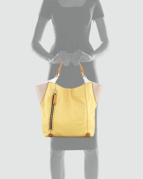 Aquarius Leather Shopper Bag, Multi