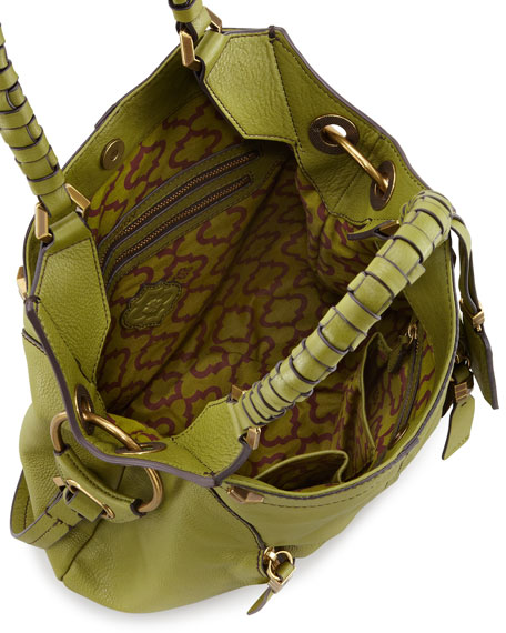 Gwen Large Shoulder Bag, Green