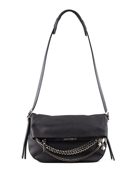 Biker Small Crossbody Bag, Black