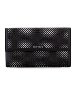 Jimmy Choo Reese Large Studded Clutch Bag, Black