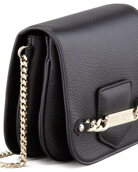 Shadow Leather Crossbody Bag, Black