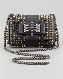 Christian Louboutin Sweet Charity Studded Crossbody Bag, Black