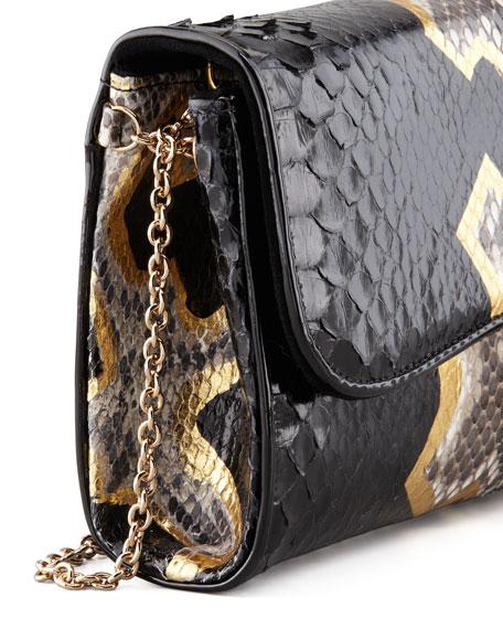 Riviera Python Clutch Bag, Black