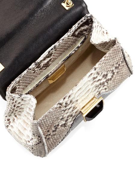 Itty Bitty Trinity Shoulder Bag, Gray/White/Black