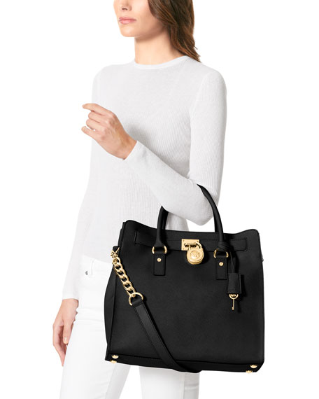 899627d49e796e MICHAEL Michael Kors Hamilton Large Saffiano Tote Bag, Black