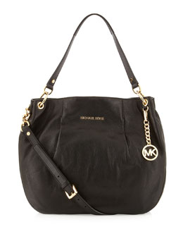 MICHAEL Michael Kors  Large Bedford Pebbled Shoulder Bag