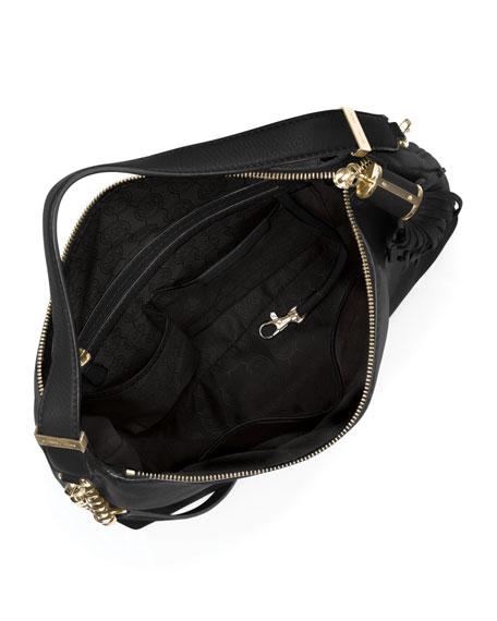 Large Bedford Tassel Pebbled Shoulder Bag