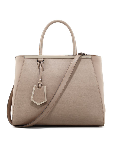 2Jours Vitello Elite Medium Tote Bag, Dove