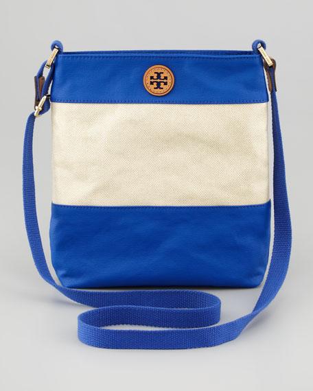 Pierson Crossbody Swingpack, Natural/Blue Nile
