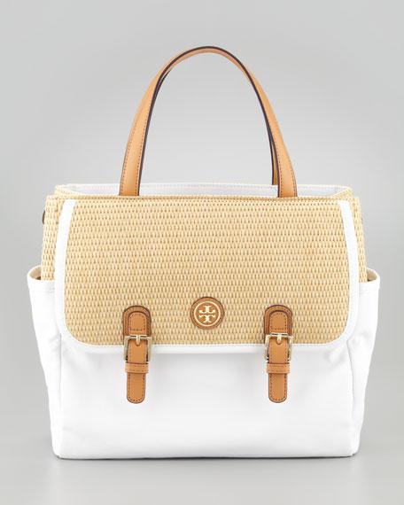 Pierson Mini Beach Tote Bag, Natural/White