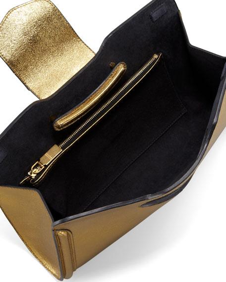 Heroine Metallic Clutch Bag, Gold