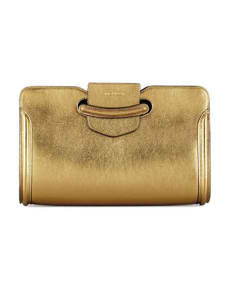 Heroine Metallic Clutch Bag, Gold