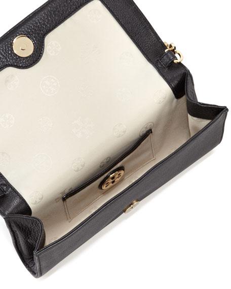 Thea Bombe Crossbody Clutch Bag, Black